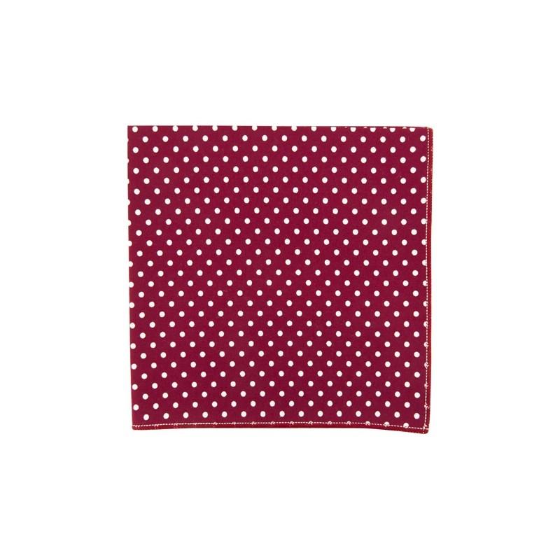 Burgundy Polka dot pocket square