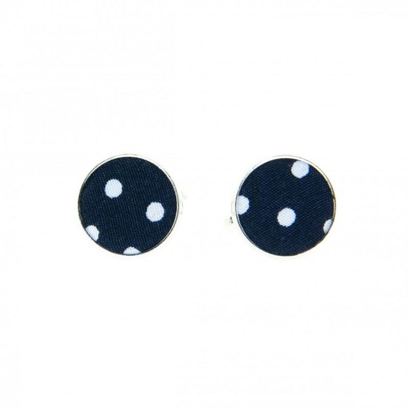2bf052fa071ef Navy blue polka moon cufflinks