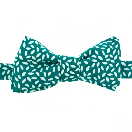 Emerald Green Rice Bow Tie