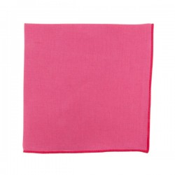 Fushia Linen pocket square