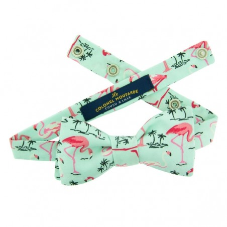 Mint Flamingo Bow Tie