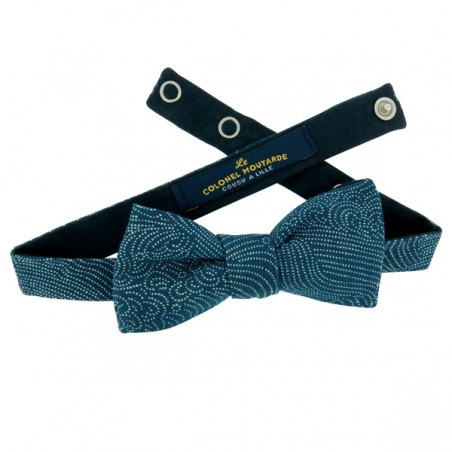 Denim blue Storm Bow Tie