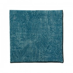 Denim blue Storm pocket square