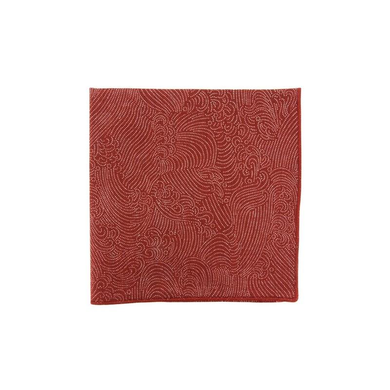 Pochette de costume Japonais Storm rouge brique