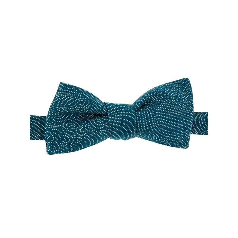 Denim blue Storm Bow Tie