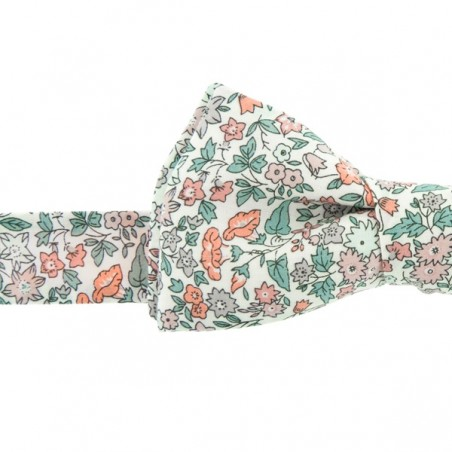 Peach / Green Liberty Ava Bow Tie