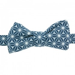 Prussian Blue Fuji Bow Tie
