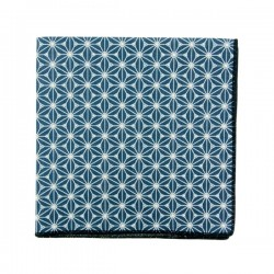Prussian Blue Fuji pocket square