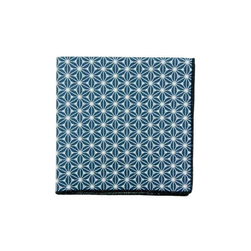 Prussian Blue Fuji pocket square