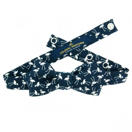 Navy Tiny Flamingo Bow Tie