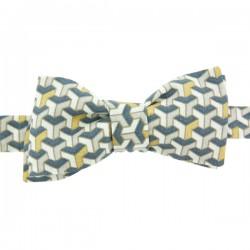 Gold Grey Art Deco Bow Tie