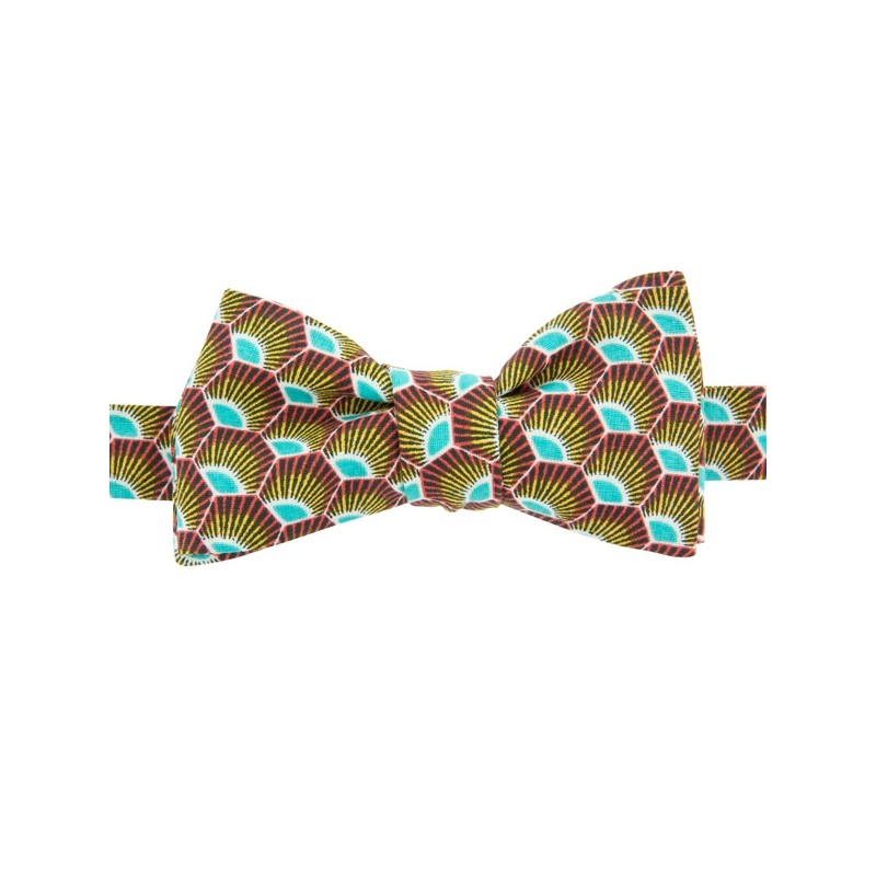 Noeud Papillon Gatsby Turquoise / Jaune