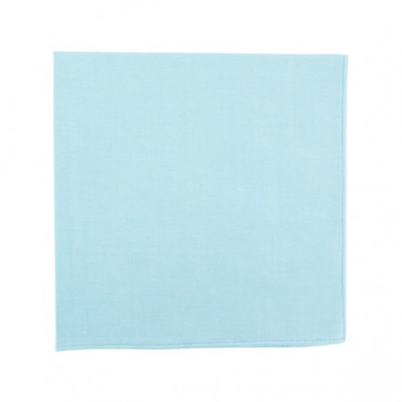 Cloud blue pocket square