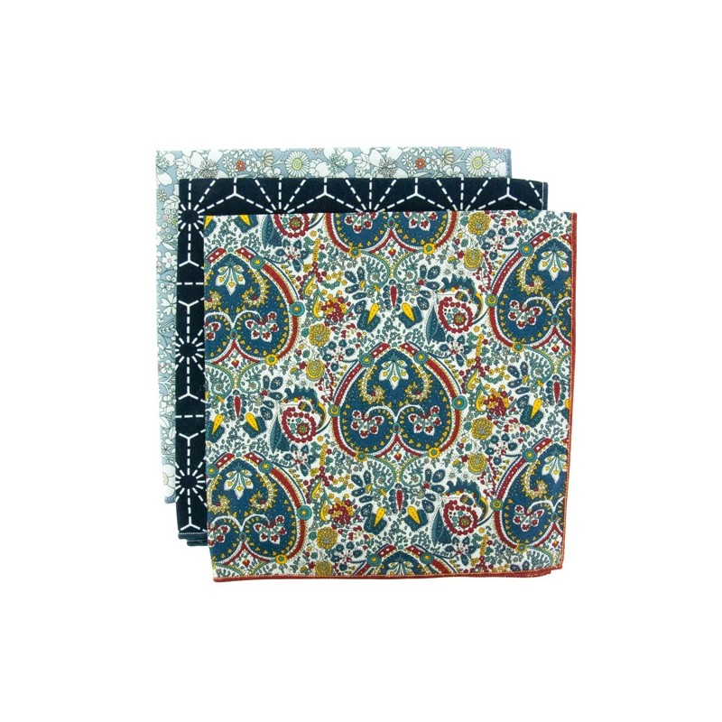 PAISLEY 3-Pack Pocket Square