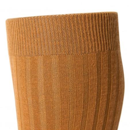 Chaussettes laine Mérinos Ocre