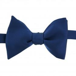 Noeud papillon bleu indigo matière Soie forme CLASSIQUE