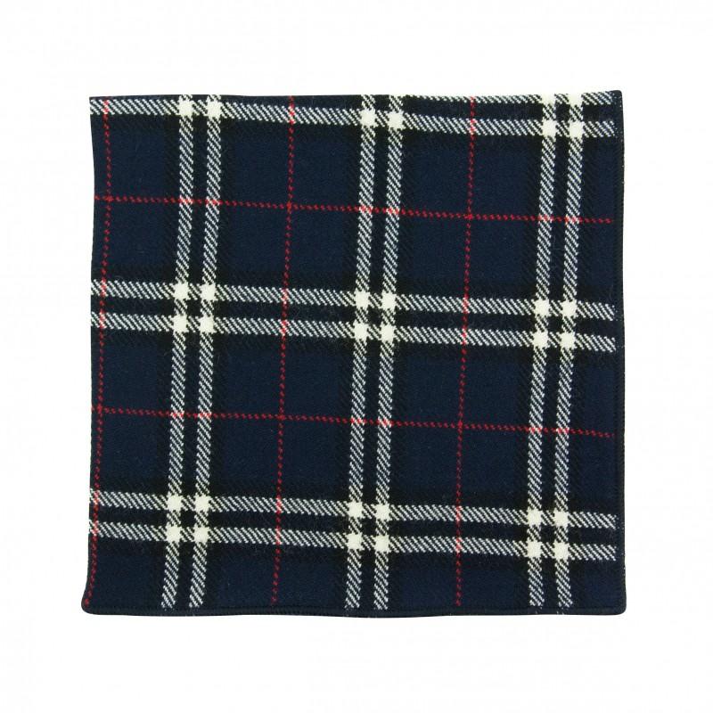 pochette de costume tartan campbell bleu marine. Black Bedroom Furniture Sets. Home Design Ideas