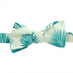 Noeud papillon original Bahamas beige émeraude