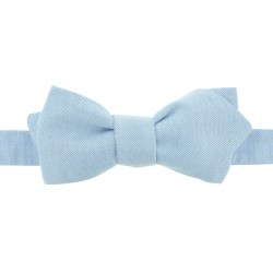 Noeud papillon bleu ciel Oxford 100% coton