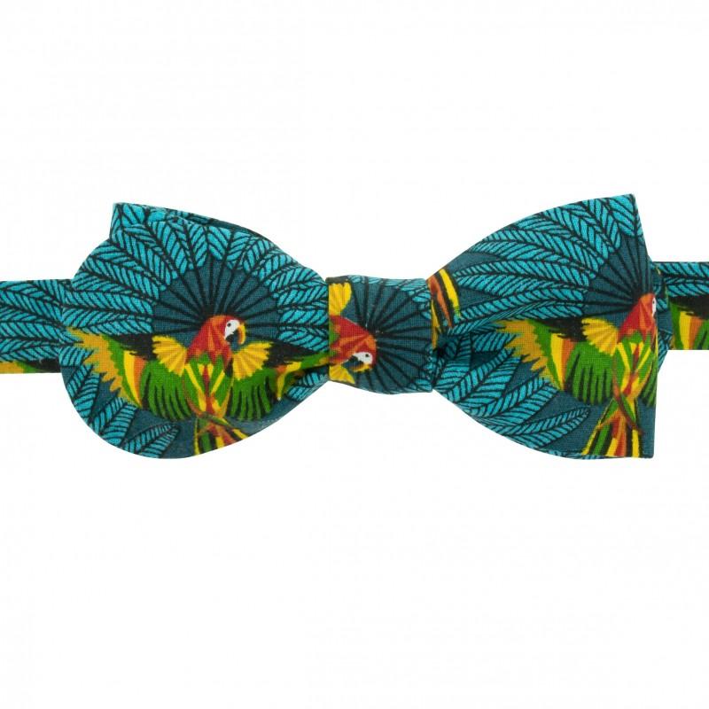 Noeud Papillon original motif Perroquet