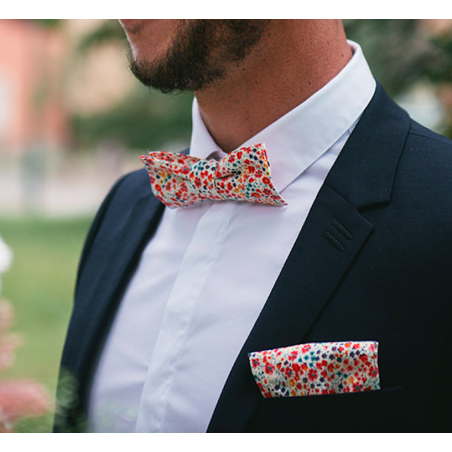 Coral Phoebe Liberty Bow Tie