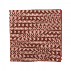 Burgundy Asanoha Japanese pocket square