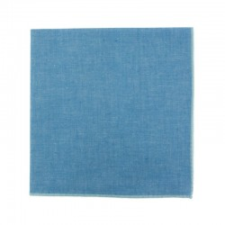 Blue Jean Chambray pocket square