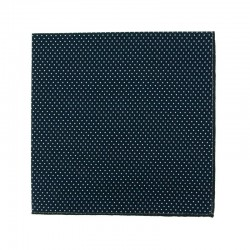 Navy blue with pin dots pocket square