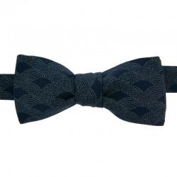 Dark blue Dotted Fan Bow tie