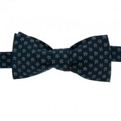 Dark blue Apple Blossom Japanese Bow tie