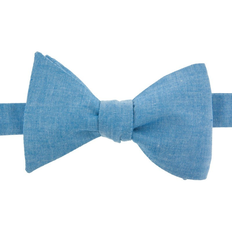 Denim Blue Chambray Bow Tie