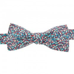 Turquoise/Red Pepper Liberty Bow Tie