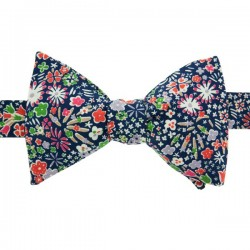 Navy Blue Kayoko Liberty Bow Tie
