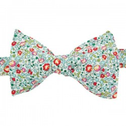 Turquoise and Coral Eloise Liberty Bow Tie