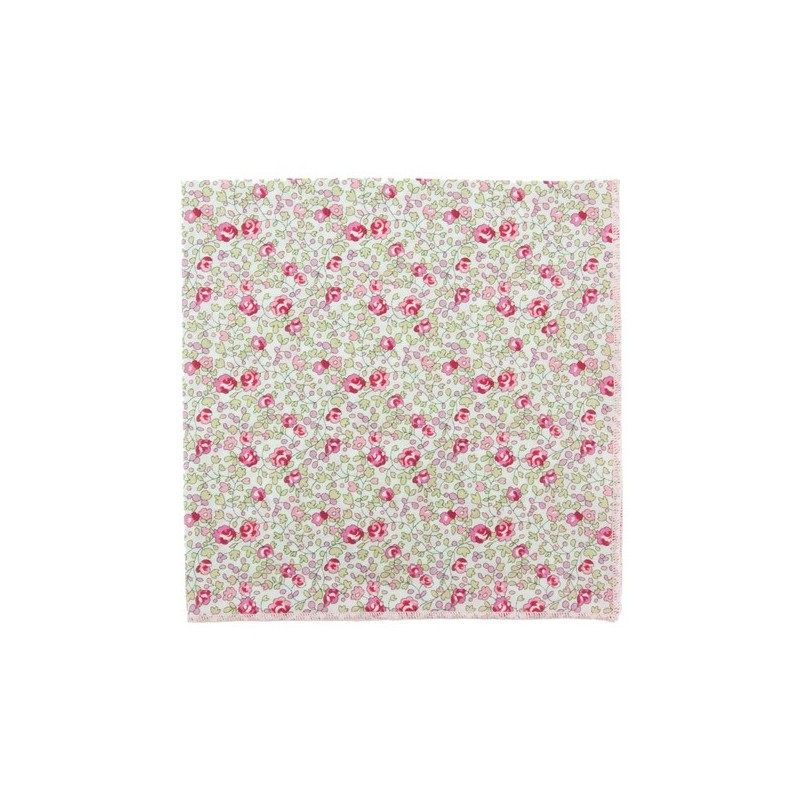Classic Pink Eloise Liberty pocket square
