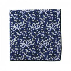 Dark blue Mitsi Valéria Liberty pocket square