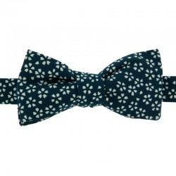Dark blue Sagano Japanese Bow tie