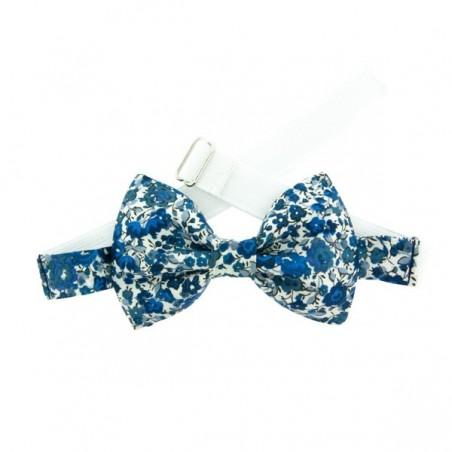 Blue Emma Liberty Kid Bow Tie