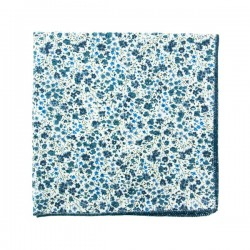 Navy blue Phoebe Liberty pocket square