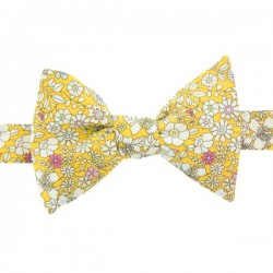 Yellow June's Meadow Liberty Bow Tie