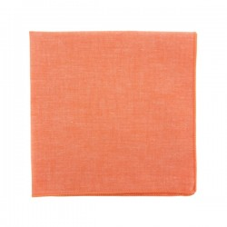 Lobster Red Chambray pocket square