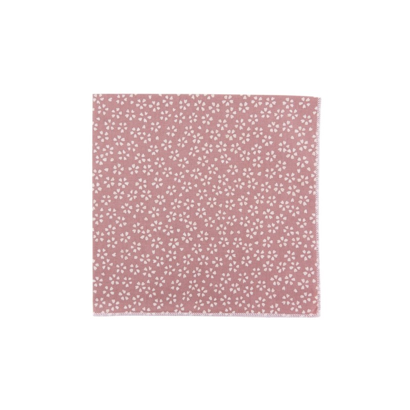 Dusty pink Sagano Japanse pocket square