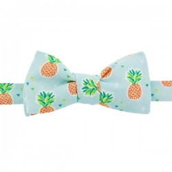 Light Blue Ananas Bow tie