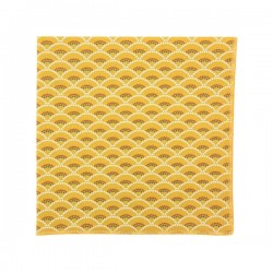 Mustard Shell pocket square