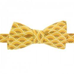 Khaki Polka Dot Bow Tie