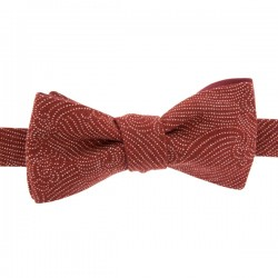 Brick Red Storm Bow Tie