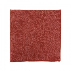 Brick Red Storm pocket square