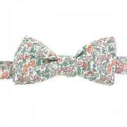 Peach / Green Liberty Ava Bow Tie