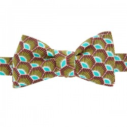 Turquoise / Yellow Gatsby Bow Tie