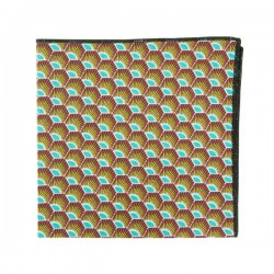 Yellow Turquoise Gatsby pocket square